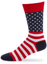 Hot Sox Flag Crew Socks