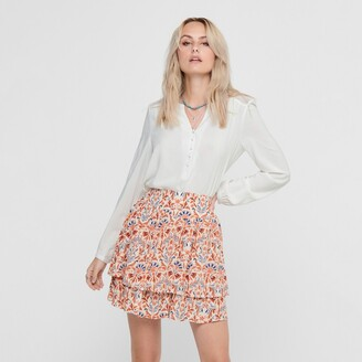 Only Buttoned Grandad-Collar Blouse