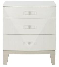 Bernhardt Axiom 3 - Drawer Nightstand in White/Gray