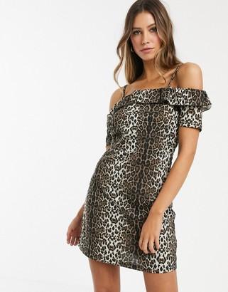 Vero Moda leopard print bardot dress