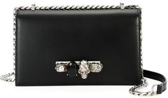 Alexander McQueen Jewelled Satchel Bag - Silvertone Hardware