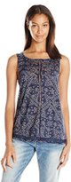 Lucky Brand Women's Ladder Stitch Tank Top in
