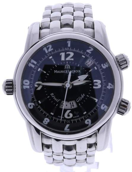 Maurice Lacroix Masterpiece Reveil Globe MP6388 Stainless Steel 43mm Mens Watch