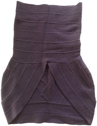 Herve Leger Purple Cashmere Knitwear for Women