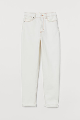 H&M Mom Jeans - White