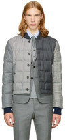Thom Browne Black and White Down Funmix Jacket