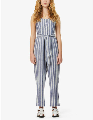 Rails Harper stripe-print sleeveless woven jumpsuit