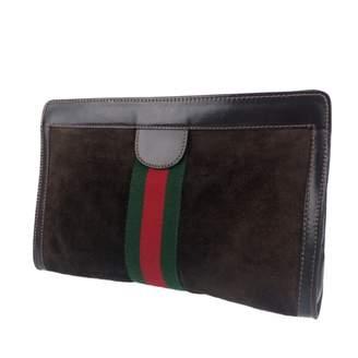 Gucci \N Brown Suede Clutch bags