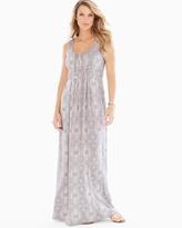 Soma Intimates Sleeveless Wrapped Waist Maxi Dress Shibori Stripe Taupe RG
