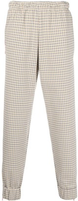 Lacoste Check Relaxed-Fit Trousers