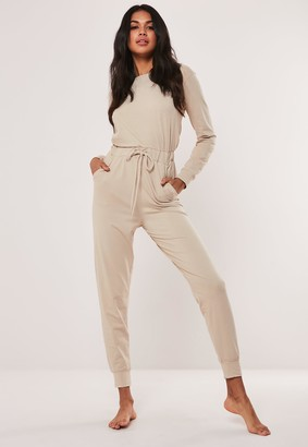 Missguided Beige Casual Loungewear Jumpsuit