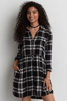 American Eagle Outfitters AE Plaid Babydoll Shirtdress