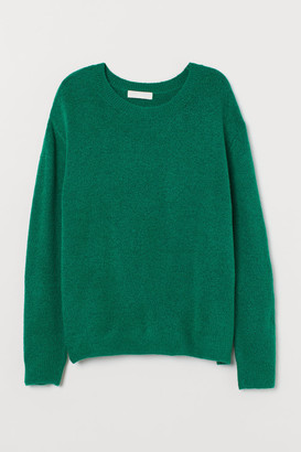 H&M Fine-knit Sweater - Green