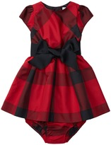 Ralph Lauren Poly Taffeta Plaid Dress (Infant)