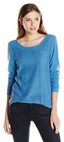 Lucky Brand Women's Lace Mixed Thermal