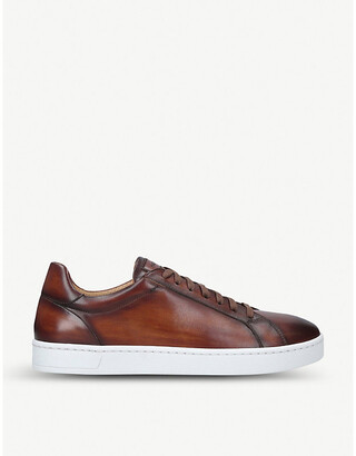 Magnanni Mikel burnished leather trainers