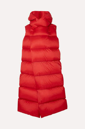 Rick Owens Oversized Quilted Shell Down Coat - Red