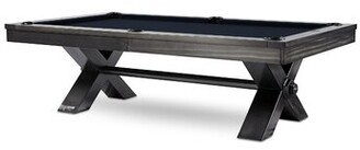 Pool' Vox Slate Pool Table With Professional Installation Included Plank & Hide Felt Color: Navy