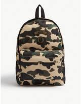 A Bathing Ape Logo camouflage canvas backpack
