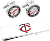 Cufflinks Inc. Men's Minnesota Twins Cufflinks and Money Clip Gift Set