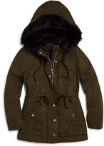 Blank NYC BLANKNYC Girls' Faux Fur Trim Hooded Coat - Sizes S-XL