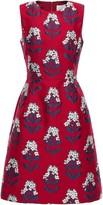 Carolina Herrera Flared Brocade Dress