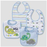 Gerber Baby Boys' 4pk Terry Bib Set Dino ;