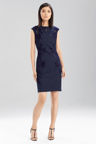 Josie Natori Stretch Pique Dress with Lace