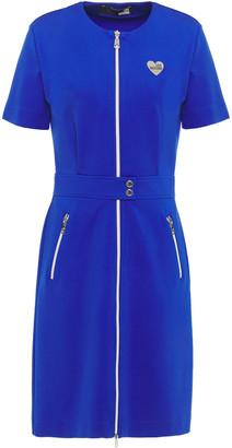 Love Moschino Zip-detailed Ponte Dress