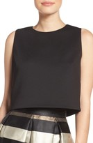 Eliza J Women's Scuba Crop Top