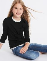 Marks and Spencer Frill Long Sleeve Top (3-14 Years)