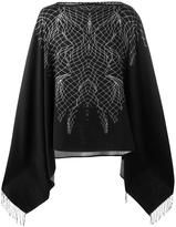 Marcelo Burlon County of Milan Asier poncho - men - Cotton - One Size