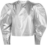 Awake Starfish Metallic Cotton Blouse - Silver