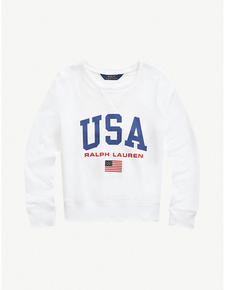 Ralph Lauren Logo-print cotton-jersey sweatshirt 7-14 years