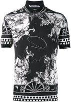 Dolce & Gabbana Western print polo shirt
