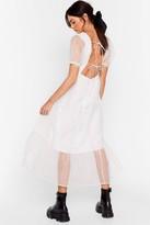 Nasty Gal Womens To Tie For Organza Midi Dress - white - S
