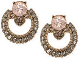 Marchesa Gold-Tone Crystal Open Button Earrings