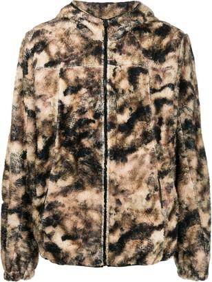Alyx Camouflage Print Zip-Up Hoodie