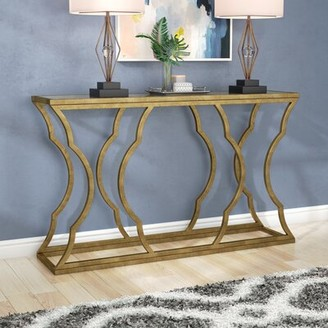 """Willa Arlo Interiors Roy 60"""" Console Table Color: Antique Gold Leaf"""