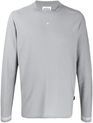 Stone Island Embroidered Logo Crew-Neck Sweatshirt
