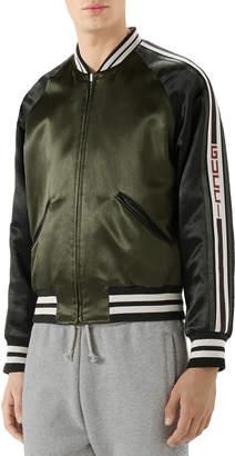 Gucci Raglan-Sleeve Varsity Jacket