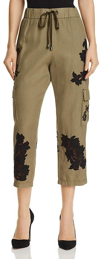 Alice + Olivia Anders Lace-Inset Cargo Pants