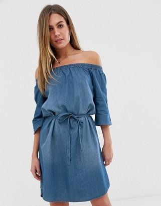 JDY denim bardot mini dress