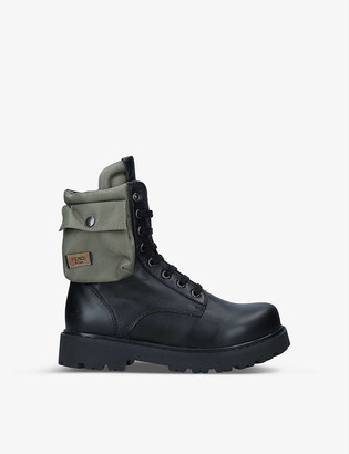 Fendi Anfibio leather ankle boots 7-10 years