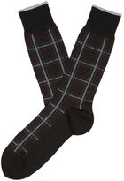 Perry Ellis Executive Grid Pattern Sock