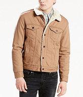 Levi's Faux-Sherpa Lined Flannel Trucker Jacket