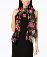 INC International Concepts I.n.c. Tumbling Roses Wrap & Scarf in One, Created for Macy's