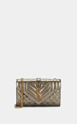 Saint Laurent Women's Monogram Small Leather Shoulder Bag - Silver