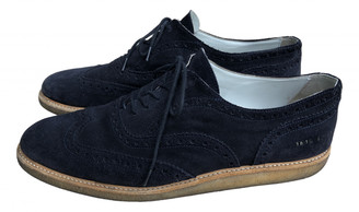 Common Projects Blue Suede Lace ups