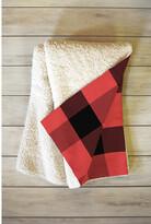 Deny Designs Allyson Johnson Winter Plaid Fleece Throw Blanket